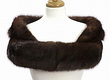 Vintage brown mink fur shoulder wrap