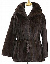 Vintage brown mink fur jacket