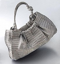 Nancy Gonzalez silver crocodile hobo