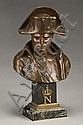 Emile Pinedo bronze bust of Napoleon having a, Emile Pinédo, Click for value