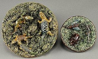 (2) Portuguese Palissy dishes by Mafra including: