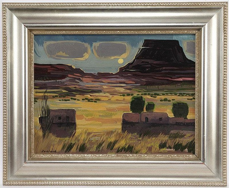 Doel Reed (1895-1985), Untitled - Moon, Mesa and