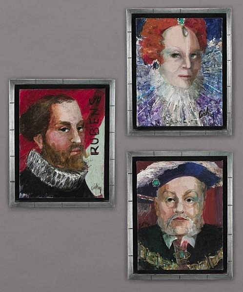 Ann Cushing Gantz (b. 1935), Set of 3 Portraits