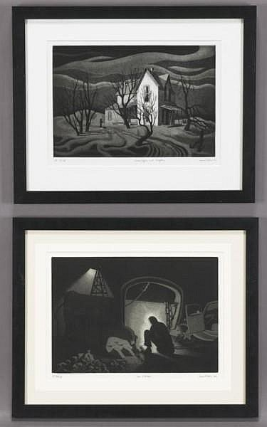 J. Jesse McVicker (1911-2004), Pair lithographs