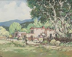 "James Butler (b. 1925) ""Along a Back Road"" oil on"