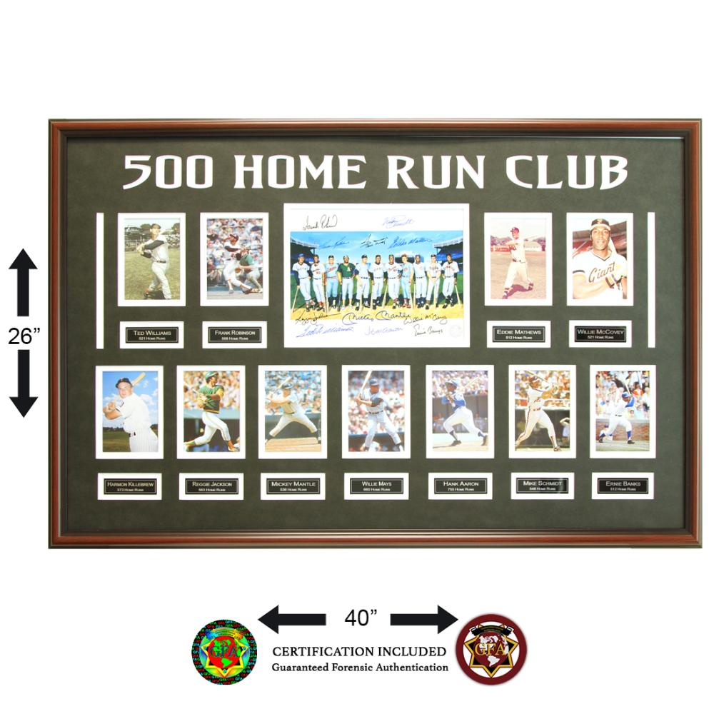 500 Home Run Club 11-Signed Hall Of Famers