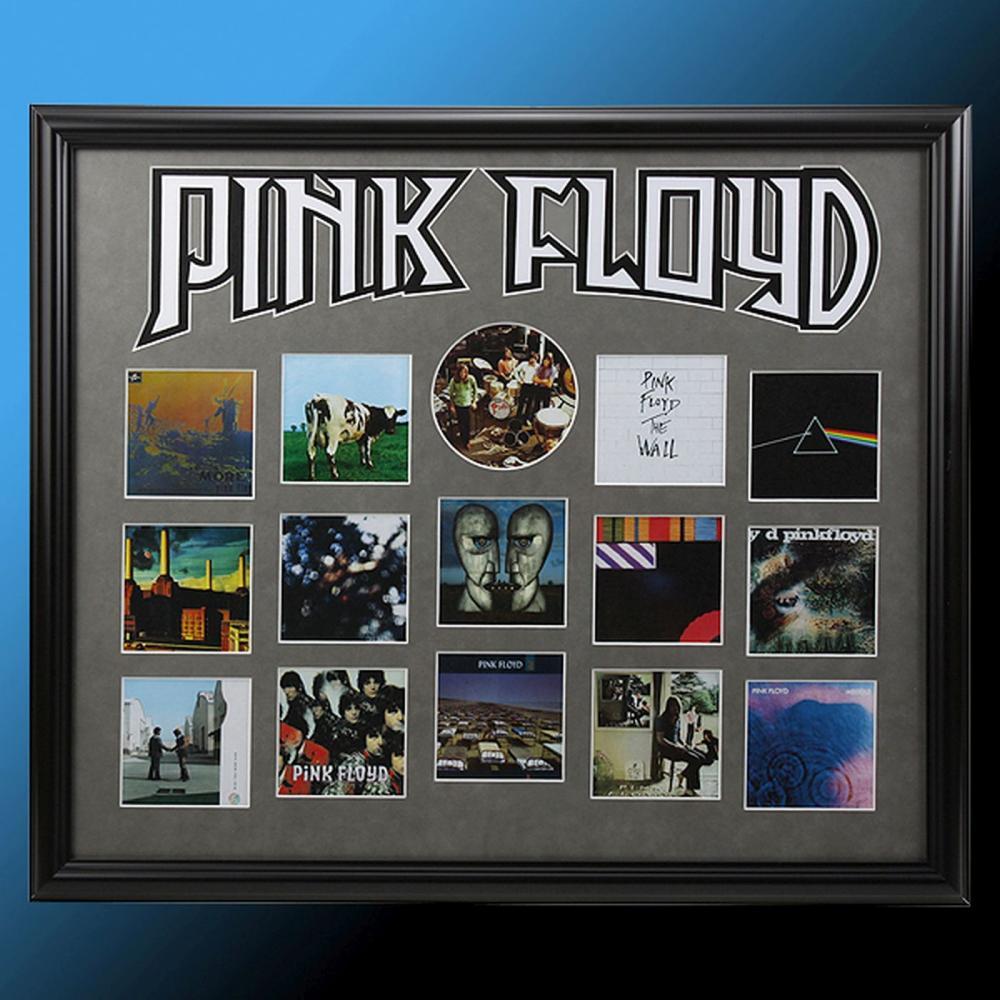 Pink Floyd Album Record Showcase Collage Framed