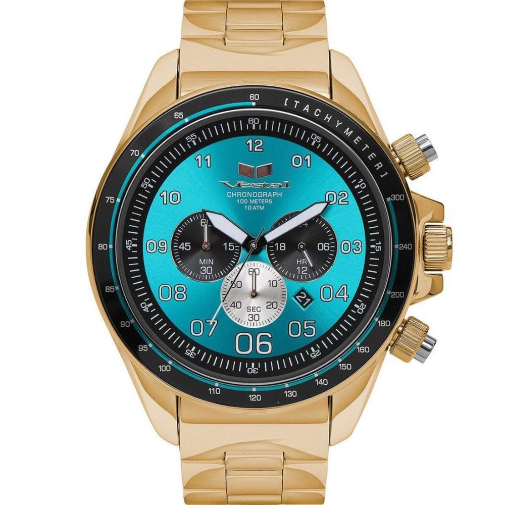 Vestal ZR3030 ZR3 Watch - Gold/Teal/Polished