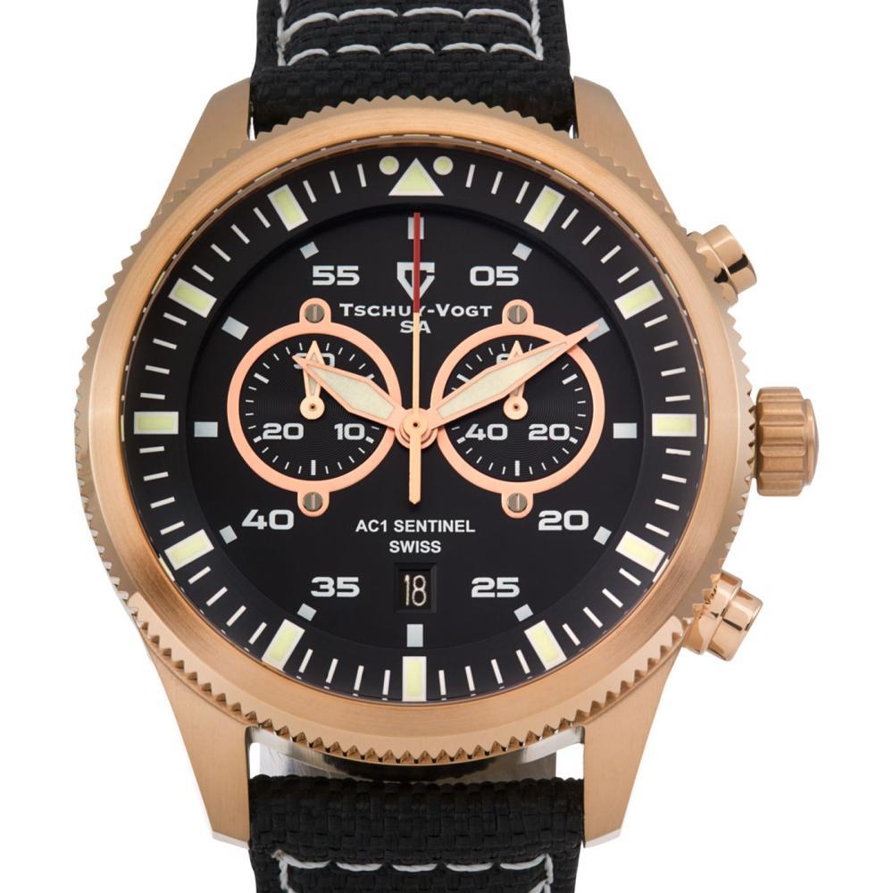 Tschuy-Vogt 45mm Case Sentinel Swiss Quartz watch