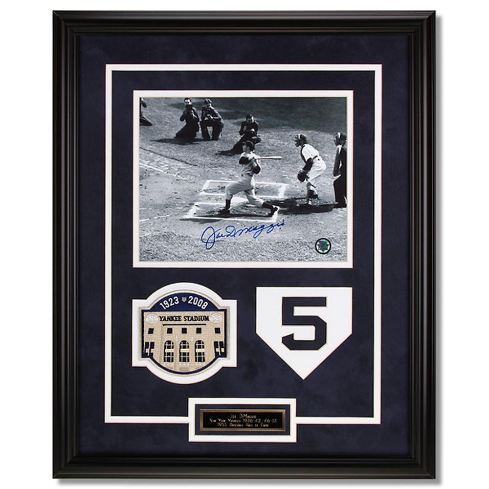 Joe DiMaggio New York Yankees Framed Signed GFA