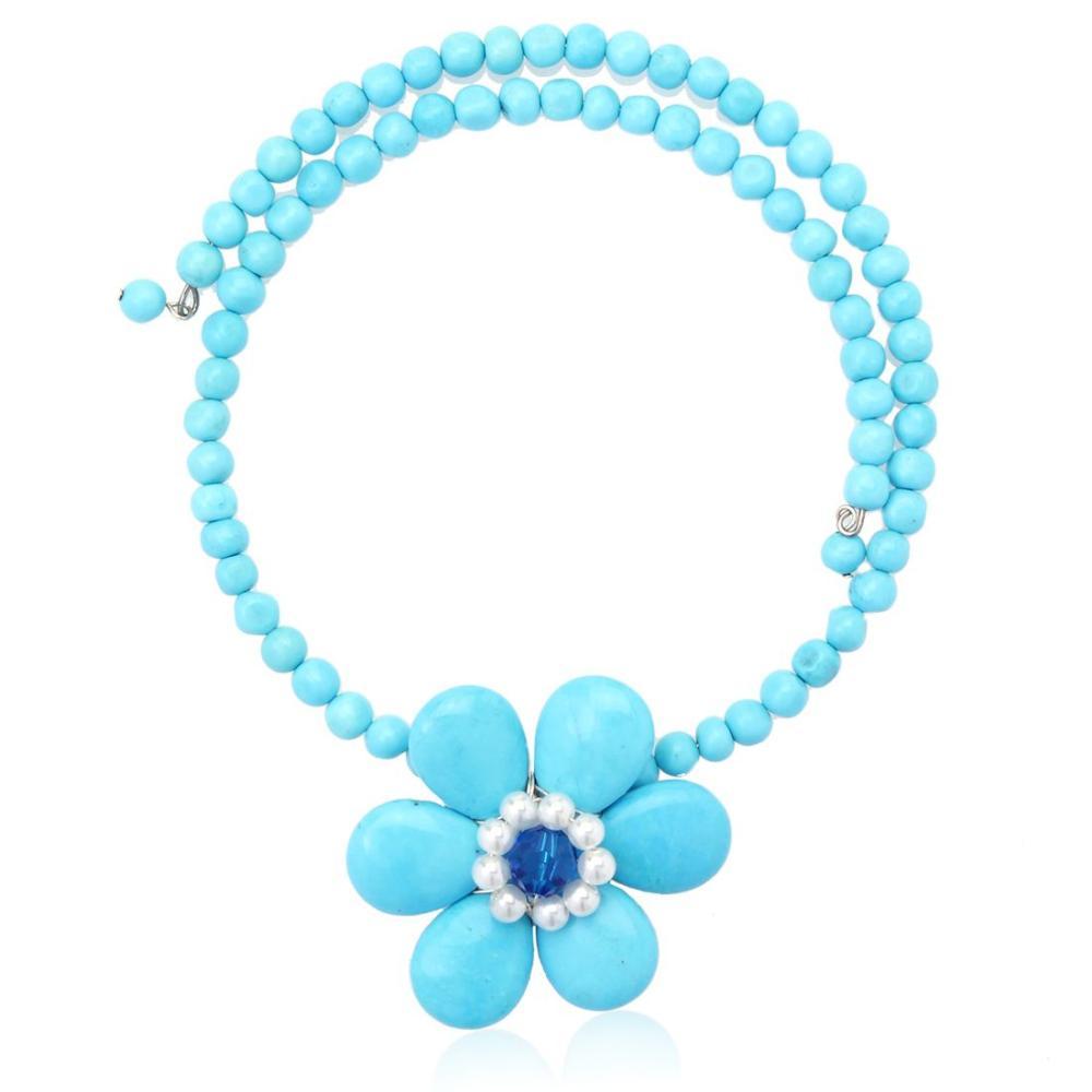 Howlite Flower Choker Necklace