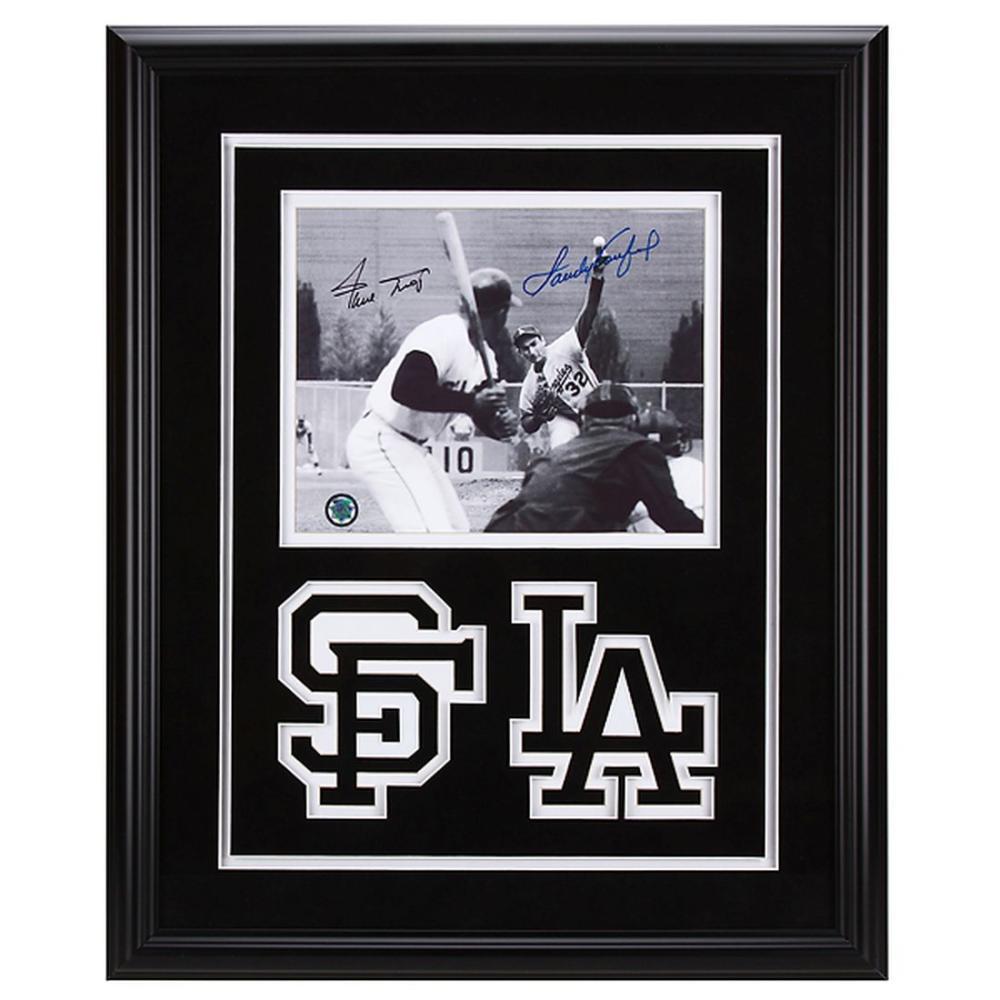 Willie Mays & Sandy Koufax Signed MLB Legends