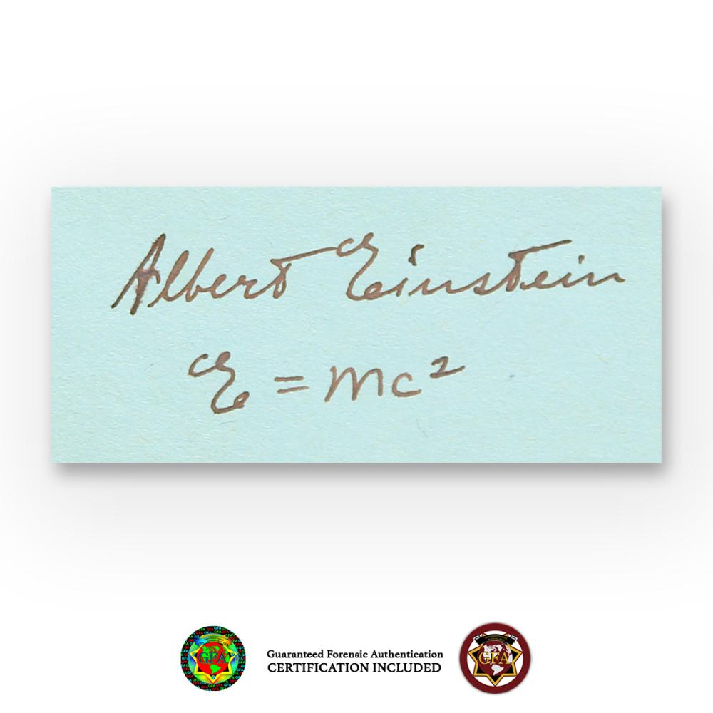 Albert Einstein Signed E=MC2 Quote