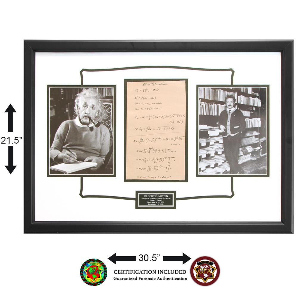 Albert Ainstein Signed Equation Page