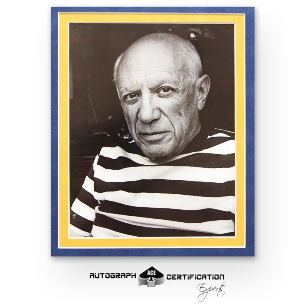Pablo Picasso Signed Autograph Page