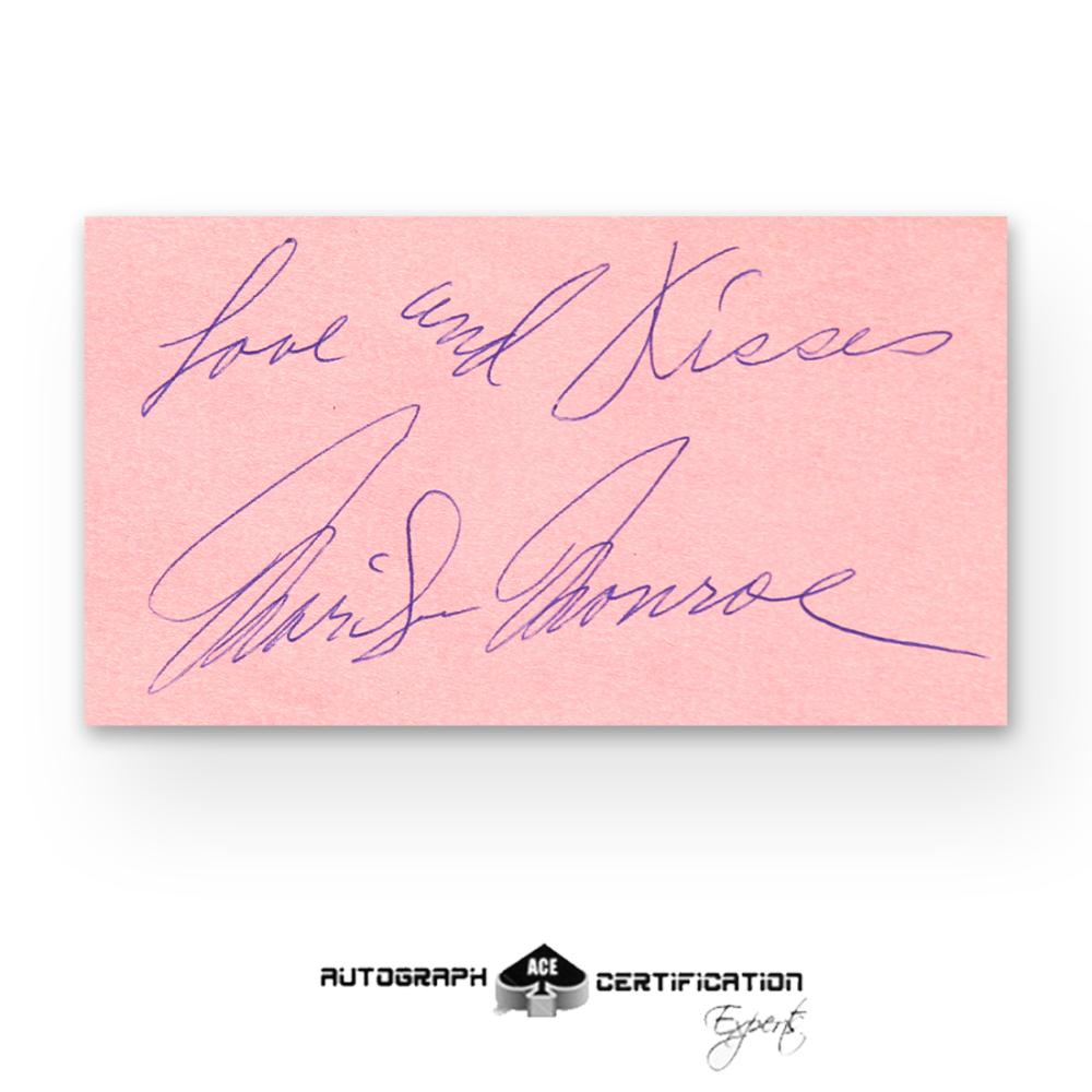 Marilyn Monroe Signed Autograph Page