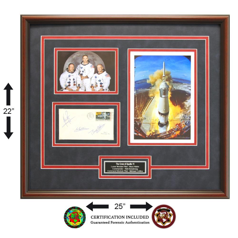 Apollo XI Crew Signed 1st Man on the Moon Cachet