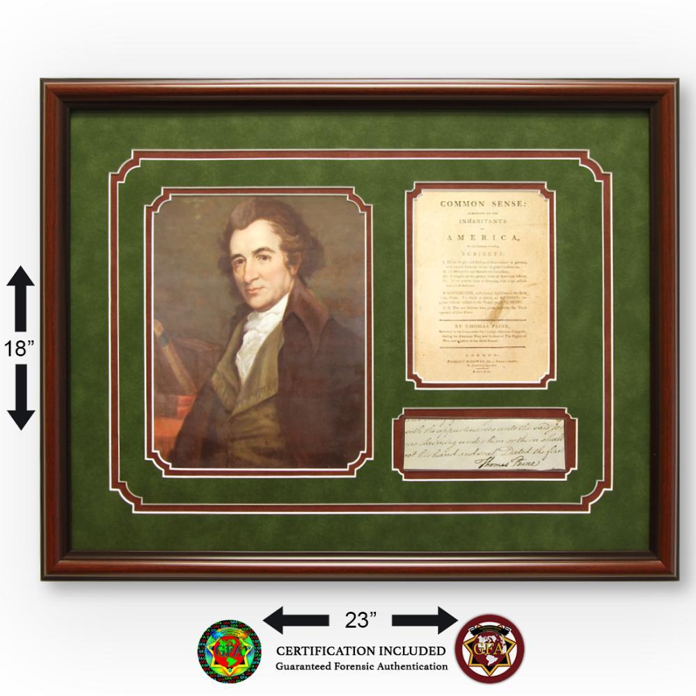 Thomas Paine Signed Partial Document