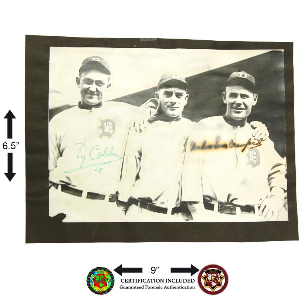 Ty Cobb & Sam Crawford Signed Photograph