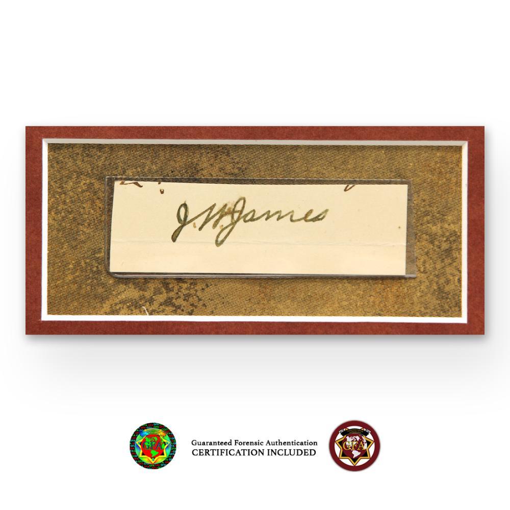 Jesse James Signed Autograph Paper