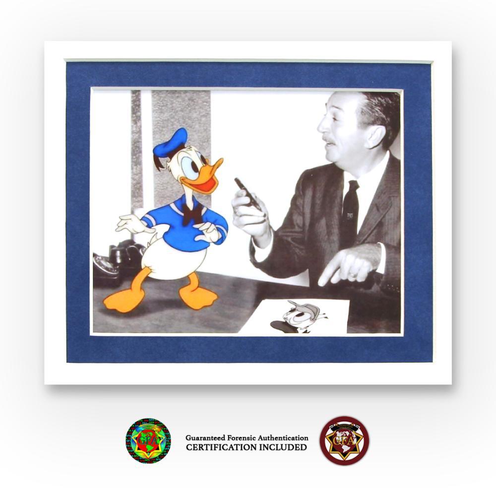 Walt Disney Signed Donald Duck Sketch