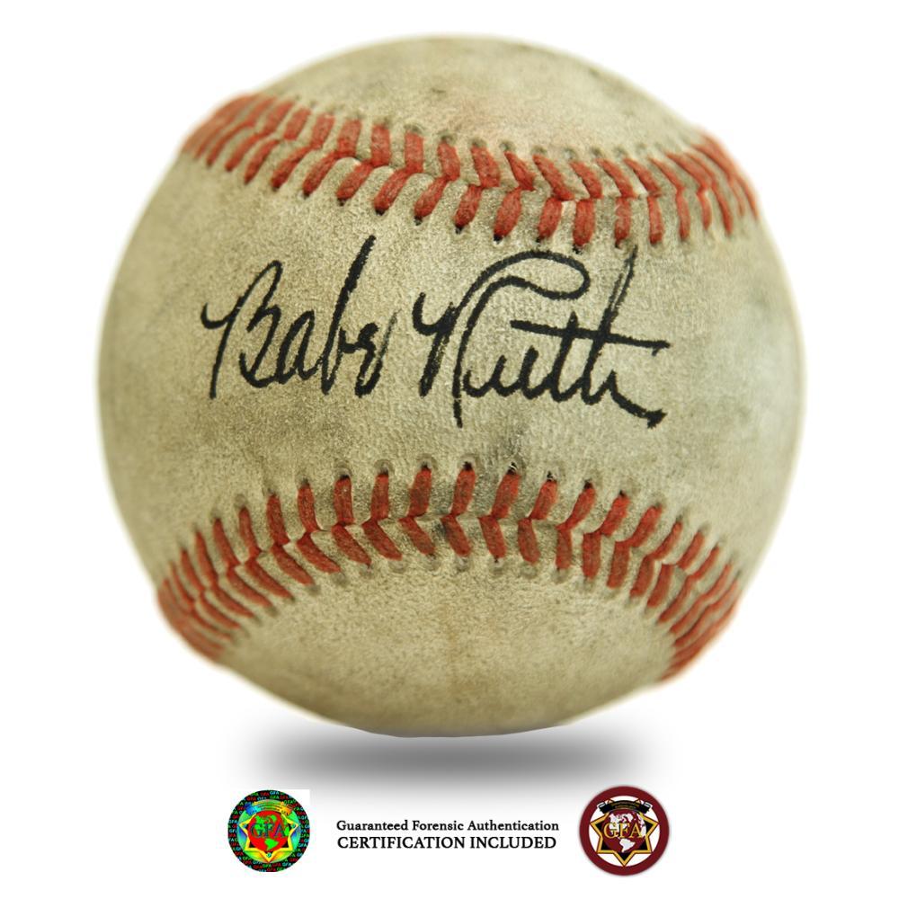 Babe Ruth signature clean boldy signed baseball
