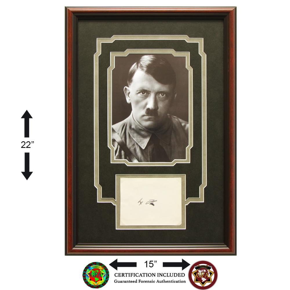 Adolf Hitler Signed Autograph Page