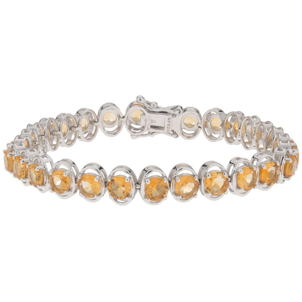 11.76 carat tw Citrine Tennis Bracelet-Sterling Silver