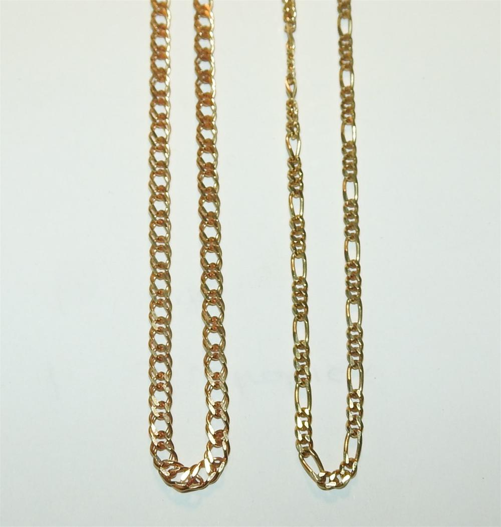Two Large Link 9ct Gold Chains - Unreserved!
