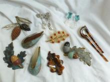 Box Lot- French & Italian costume jewelry items (10)
