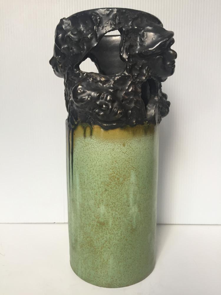 """Ceramic vase, """"F.Patris, Belgium"""", c.1940"""
