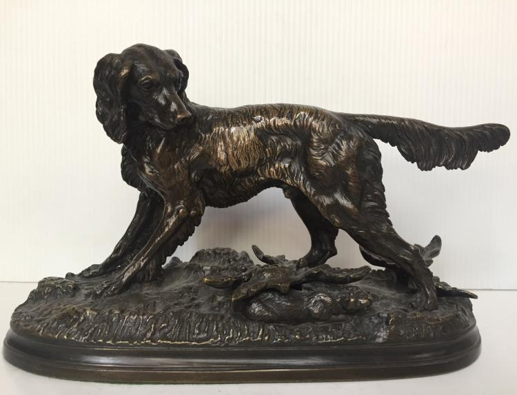 Bronze of a dog by Moigniez, c.1900