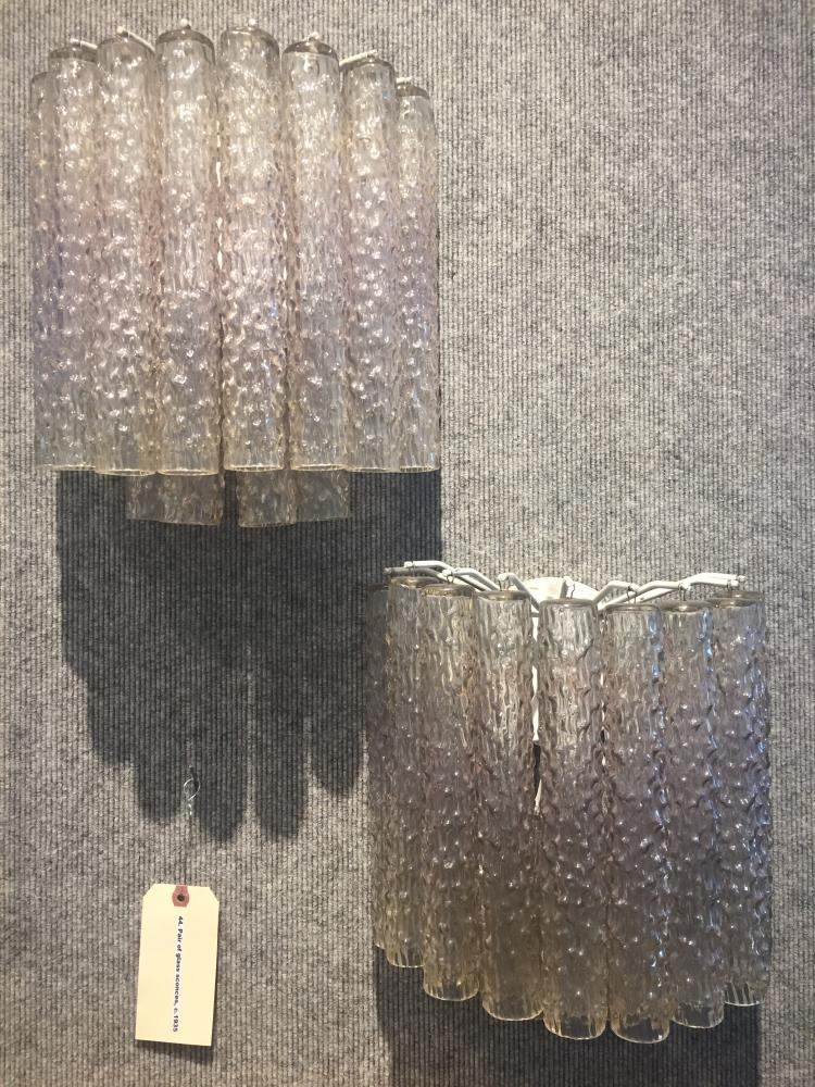 Pair of glass sconces, c.1935