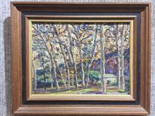 """""""House in the woods"""", painting by Emery Gellert"""