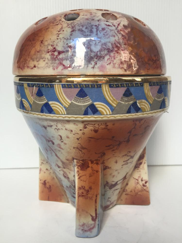 Belgian Art Deco covered vase, c.1930