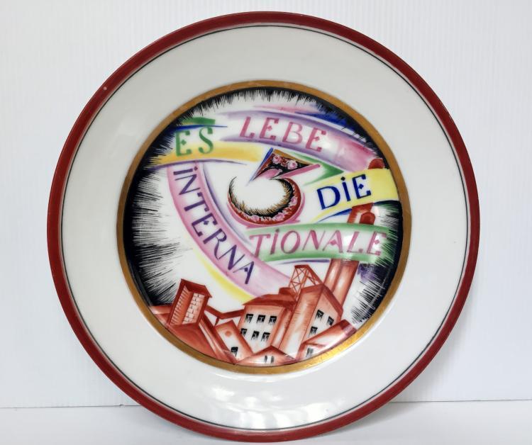 Soviet 3rd International plate, c.1925, Ambassador Migliuolo Estate