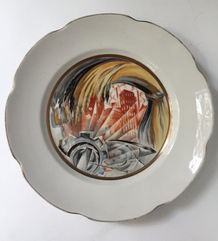Soviet plate, wheat and buildings, Ambassador Migliuolo Estate
