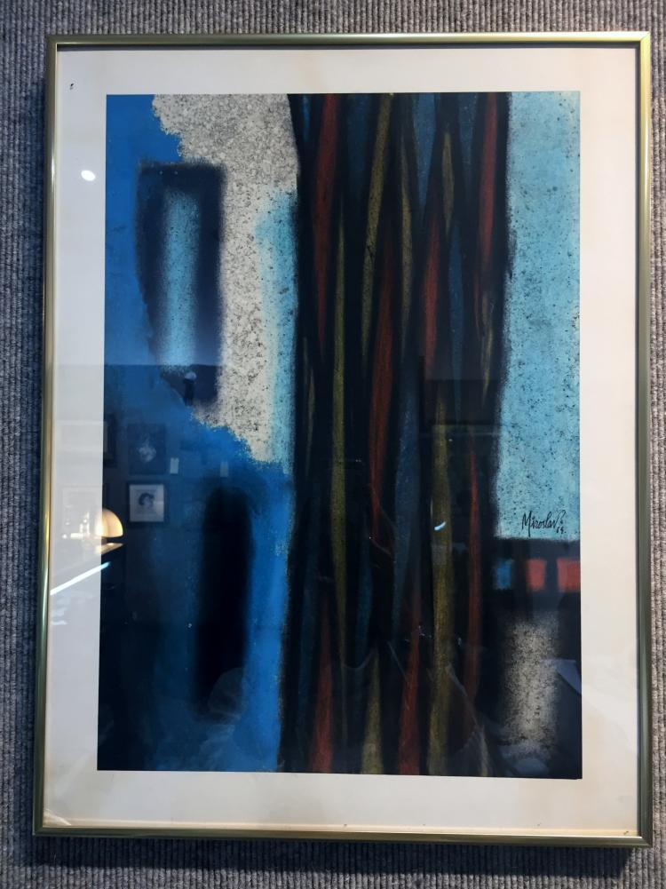 Abstract pastel by Miroslav, 1964