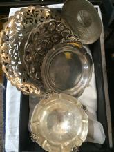 Box lot-miscellaneous silver items, 21.9 t. oz