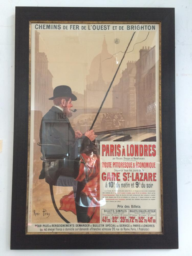 Original poster, Rene Pean, Paris Railway