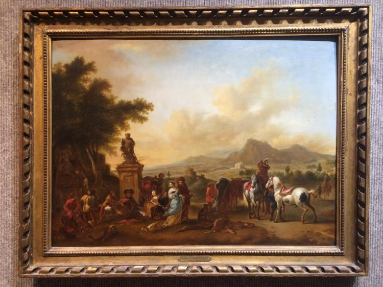 Old Master painting with Philip Wouwerman plaque