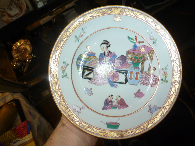 Box lot-Two Chinese style Herend plates
