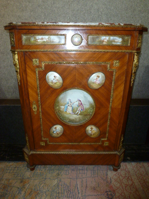 Cabinet with porcelain plaques, Ambassador Estate