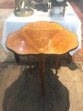 Inlaid triangular Louis XVI style table, c.1930