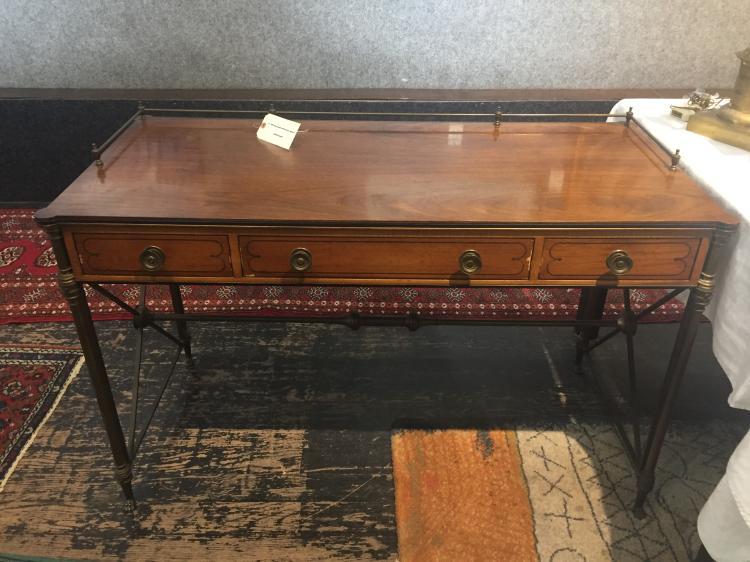 Writing desk with brass gallery, Ambassador