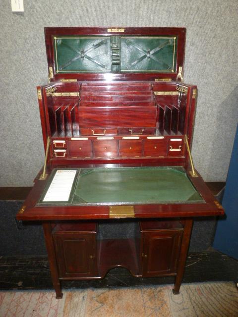 Mahogany desk w/ organizers, c.1900-Ambassador