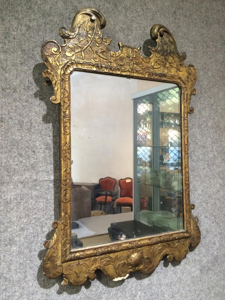 Late 18th century gilt wood mirror
