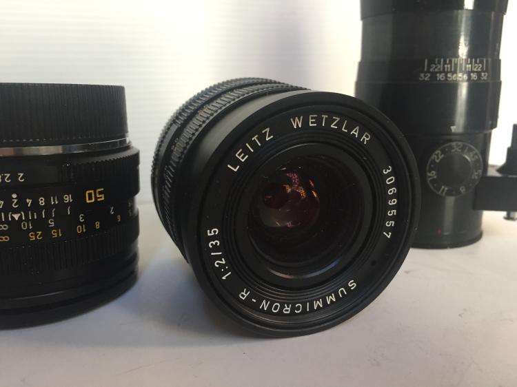 Box lot-Leitz camera lens, other lenses