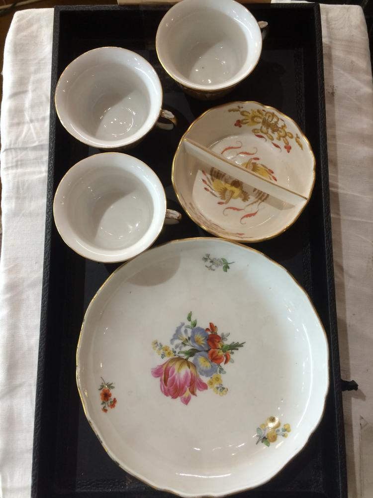 Box lot-Meissen items