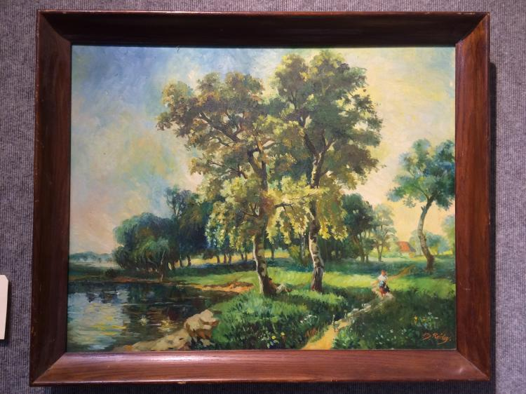 Large landscape painting by B.Ridey